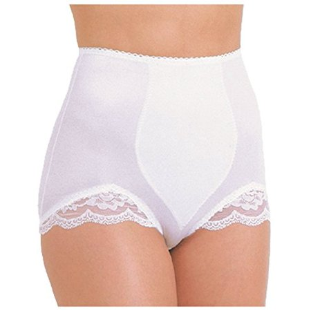 (Rago Shaper Panty Brief With Lace 919 White Large 30)