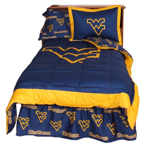 College Covers NCAA West Virginia Reversible Comforter Set