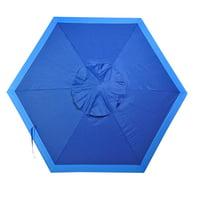 7 - 8 ft Beach Umbrella   Patio Market Umbrellas UPF100 Wood Grain Finish Frame, Carry Bag