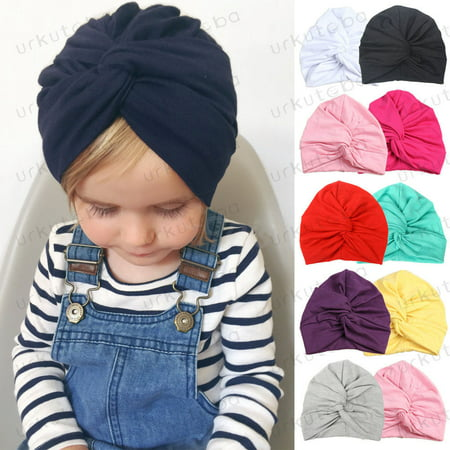 Infant Baby Turban Toddler Kids Boy Girl Cotton Blends Hat Lovely Soft Cute](Girls Pink Cowboy Hat)