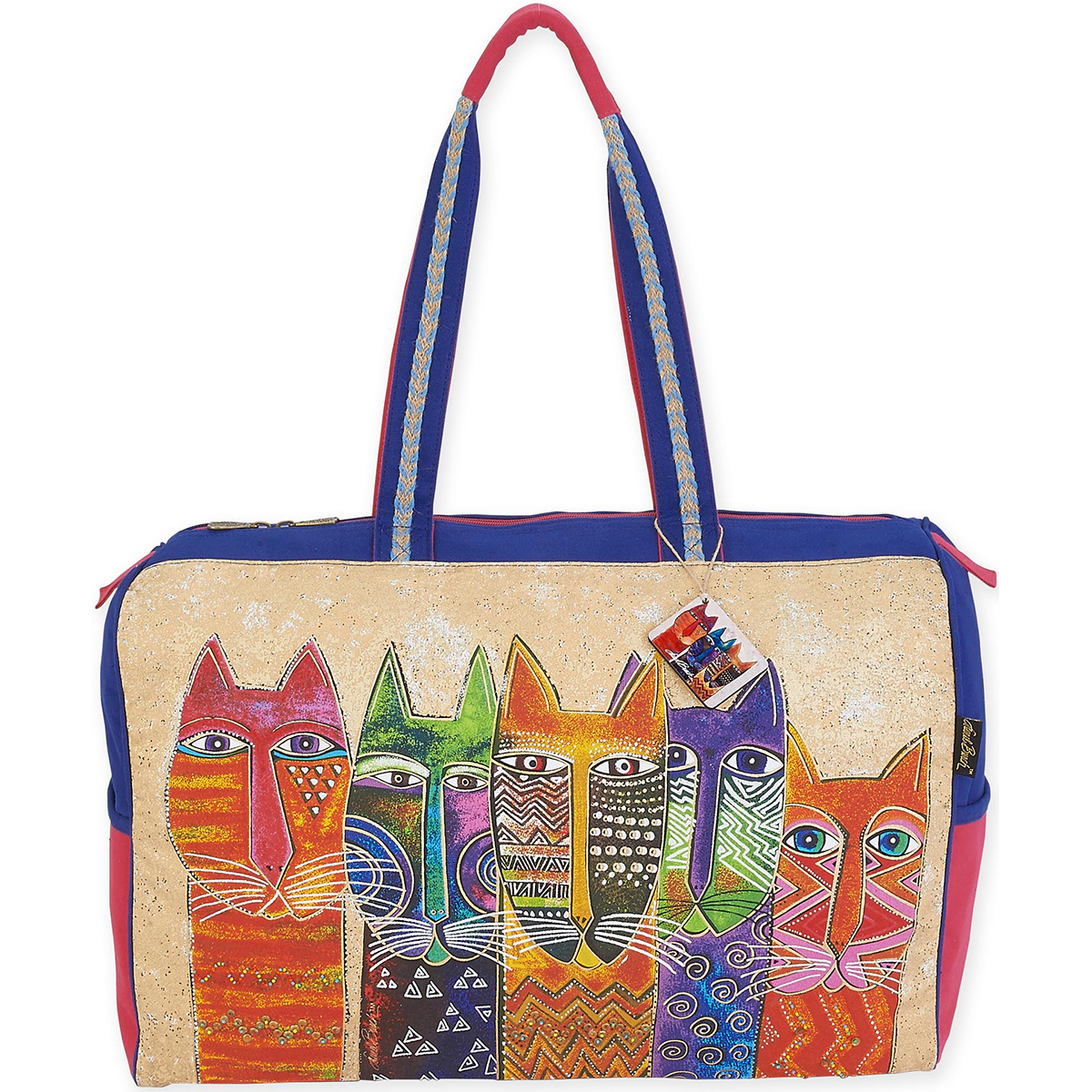 "Travel Bag 21""X8""X16""-Long Neck Cats"