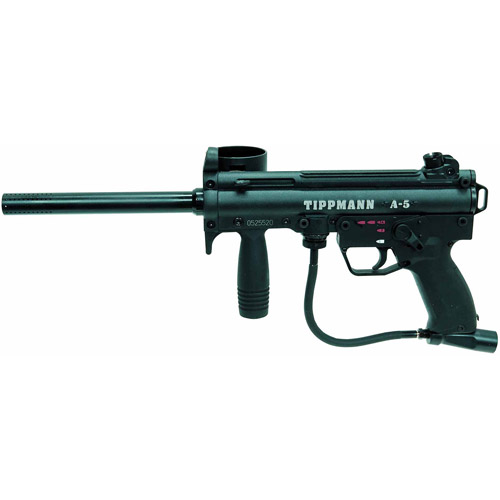 Click here to buy Tippmann A-5 Paintball Marker with Electronic Grip by Tippmann.