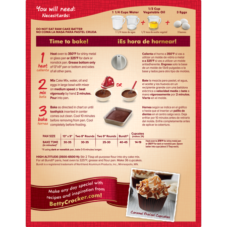 Betty Crocker Super Moist German Chocolate Cake Mix 1525 Oz