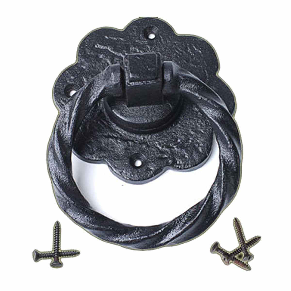 Ring Pull Cabinet Or Drawer Or Door Wrought Iron Black 5