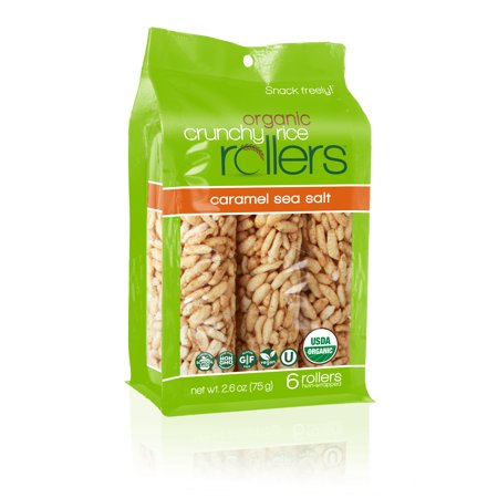 Crunchy Rice Rollers, Caramel Sea Salt, 6 Ct