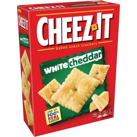 (2 Pack) Cheez-It White Cheddar Baked Snack Crackers 12.4 oz. Box