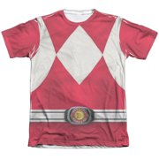 Mighty Morphin Power Rangers Red Ranger Mens Sublimation Shirt