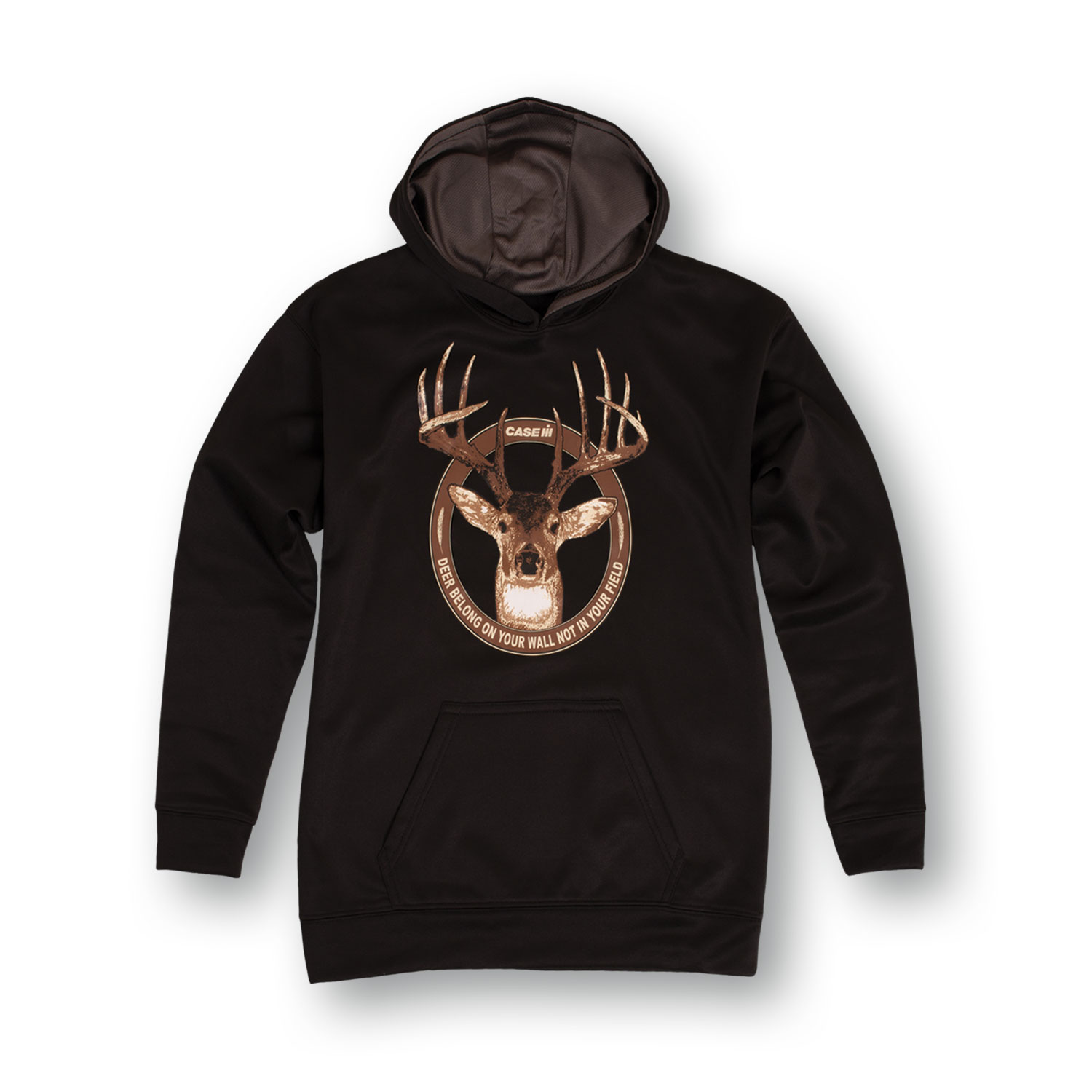 Case IH Deer Belong On Your Wall Country Hunting Youth Performance Pullover Hood