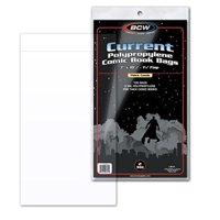 Thick Current Comic Book Size Bags, Fits current annuals and prestige format comic books By BCW
