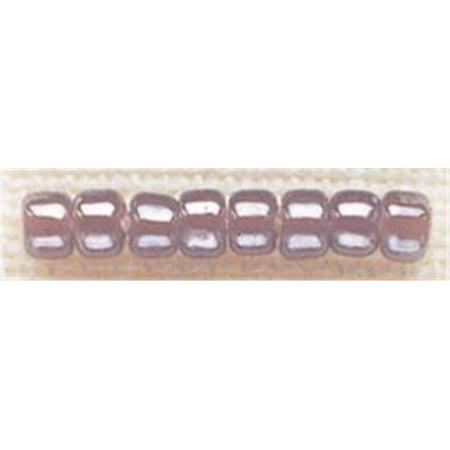 258611  Glass Beads Size 6-0 4mm 5.2 Grams-Pkg-Ash Mauve - image 1 de 1