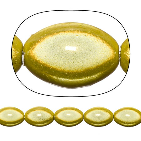 Miracle Beads, 9.5x14mm Center Drilled Marquise, Yellow Sold per pkg of 31cnt/20g pack