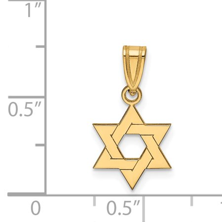 14K Yellow Gold Star of David Pendant - image 1 de 2