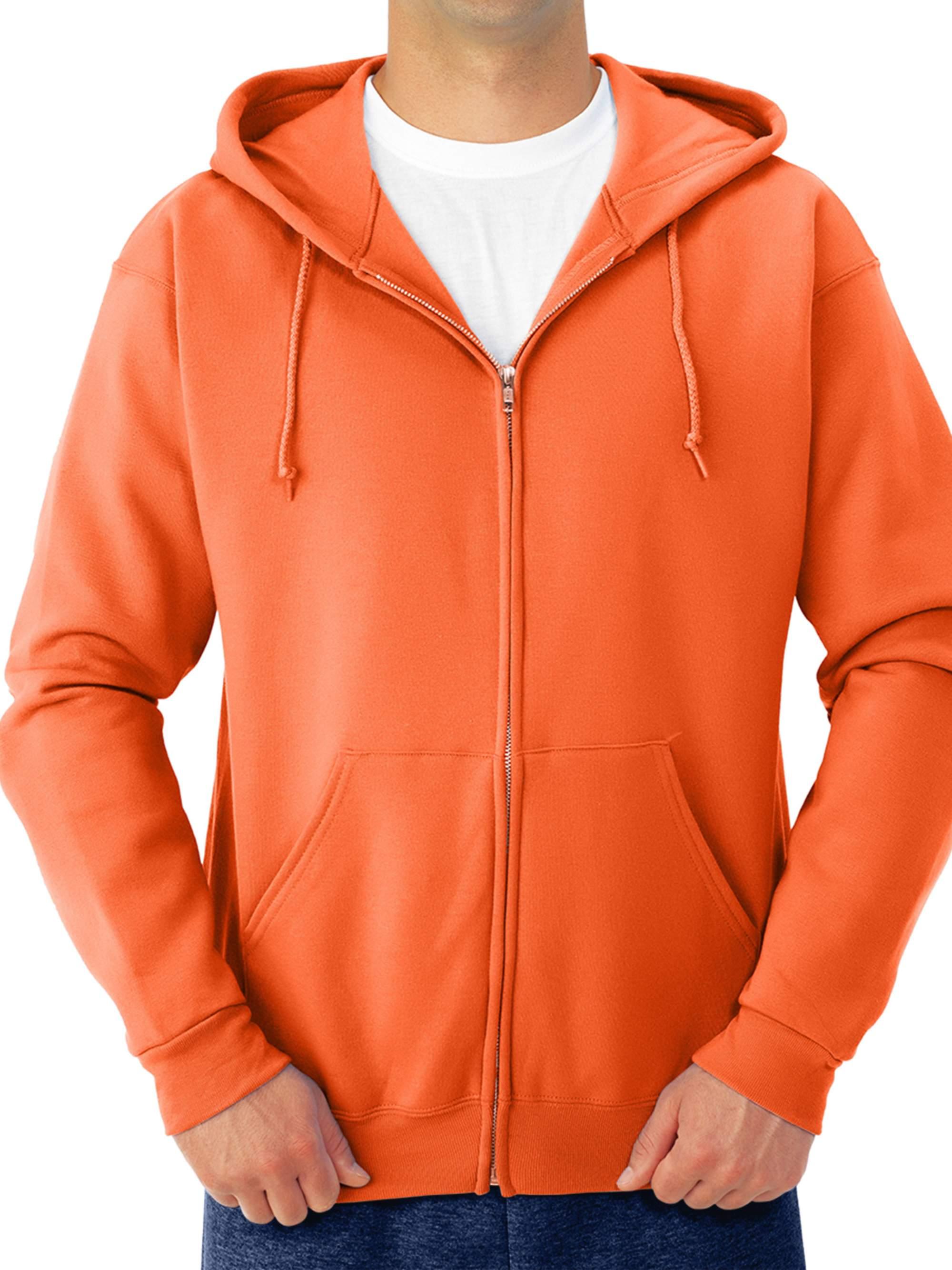 Big Men's Soft Medium-Weight Fleece Full Zip Hooded Jacket