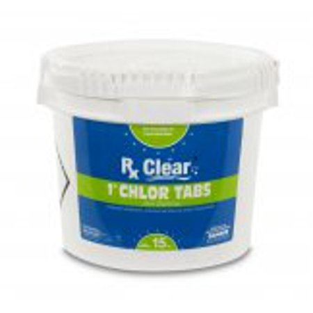 "Rx Clear 1"" Stabilized Chlorine Tablets - 15 lbs"