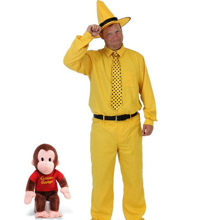 Curious George Man In The Yellow Hat DELUXE Costume - Pitbulls In Costumes