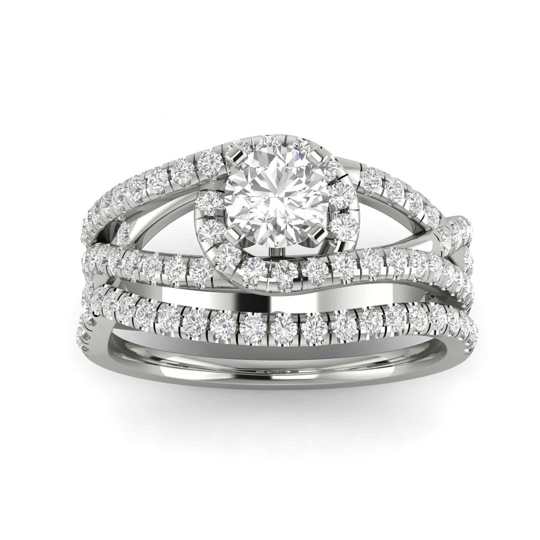 1.00ctw Diamond Bridal Set in 10k White Gold by Sk Jewel,Inc
