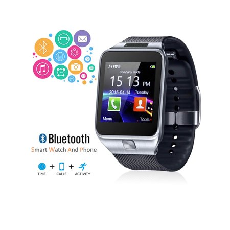 Factory Unlocked 2-in-1 SWAP2 SmartWatch & Phone + Pedometer+ Built-In Camera + Bluetooth Sync