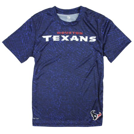 NFL Youth Boys Houston Texans Short Sleeve Printed Performance T-Shirt, Navy for $<!---->
