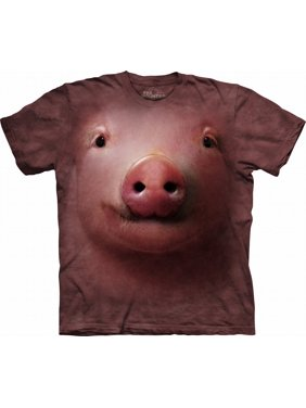 30a8d9c4 Product Image Pink 100% Cotton Pig Face Realistic Graphic T-Shirt. The  Mountain