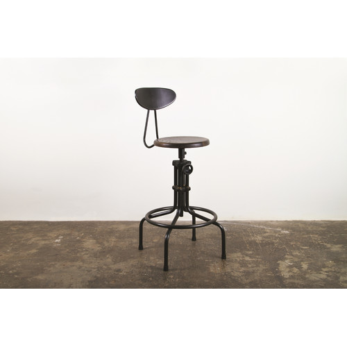 District Eight Design V19C Adjustable Height Swivel Bar Stool