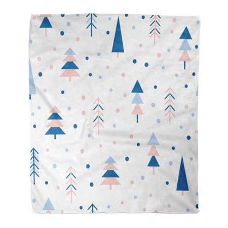 ASHLEIGH Flannel Throw Blanket Blue Abstract Forest Childish Simple Album Holiday Baby Nappy Soft for Bed Sofa and Couch 58x80 Inches