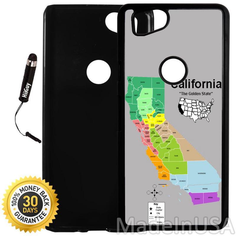 Custom Google Pixel 2 Case (California Golden State) Plastic Black Cover Ultra Slim | Lightweight | Includes Stylus Pen by Innosub