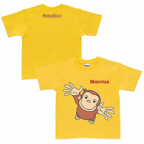 Personalized Curious George Pick Me Up Toddler Yellow T-Shirt