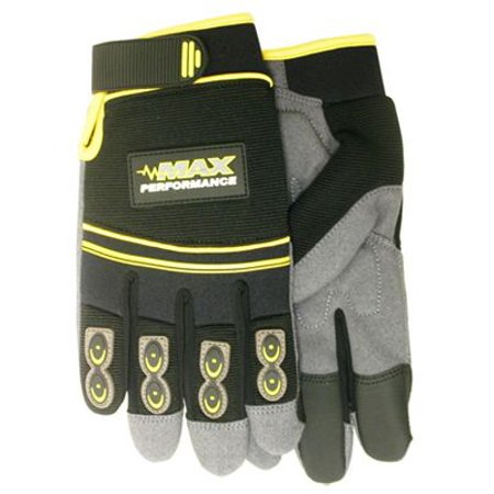 Gel Palm Gloves (Midwest Quality Gloves MX420-M Max Performance Work Gloves, Synthetic Palm With Gel Insert, Black & Gray, M - Quantity 1)