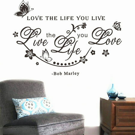 DIY Bob Marley Quote  Love The Life You Live Vine Art Wall Sticker Decals Decor - image 7 of 7
