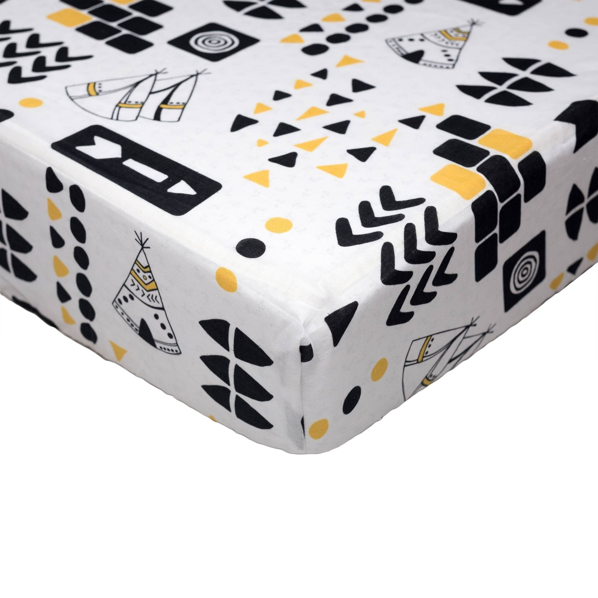 Poppi Living Aztec Premium Cotton Fitted Crib Sheet