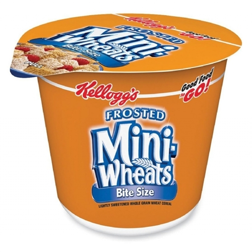 Keebler 42799 Frost Mini Wheats Cereal - Cup - 1 Serving Cup - 2.50 oz - 6 / Box