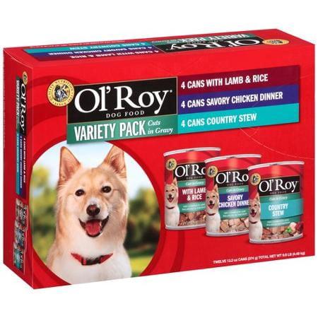Ol' Roy Les coupes dans Gravy Wet Dog Food Pack Variety, 13.2 onces (paquet de 12)
