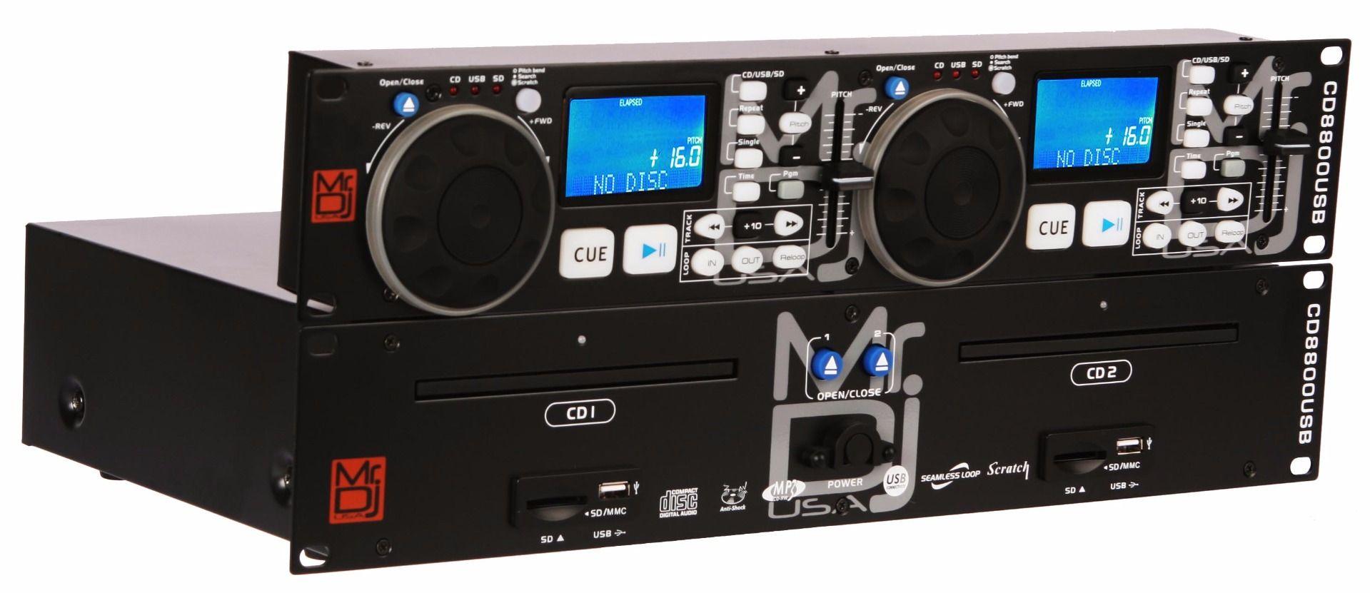 Mr. Dj CD8800USB Multi-Disc DJ CD Player by MR. DJ