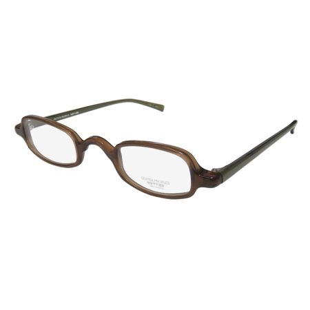 New Oliver Peoples Pop Mens/Womens Designer Full-Rim Brown / Olive Fashionable Contemporary Frame Demo Lenses 41-28-148 Eyeglasses/Spectacles ()