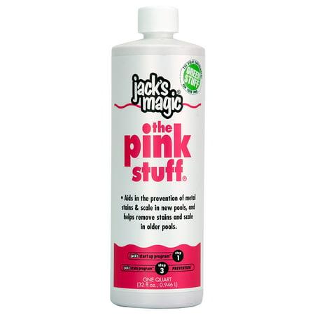 Jack's Magic Pink Stuff JMPINK032 Metal Solution For Swimming Pools - 1 Quart Jack's Magic Pink Stuff JMPINK032 Metal Solution For Swimming Pools - 1 Quart
