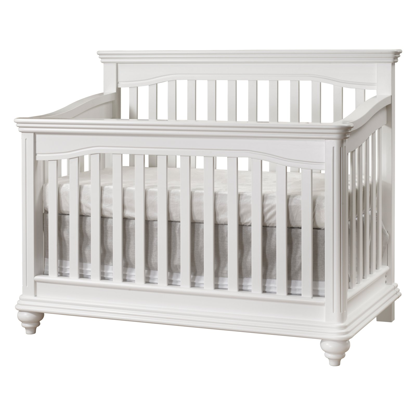 Lusso Nursery Vicenza Crib with Toddler Rail