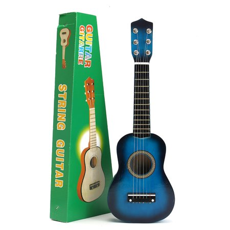 On Clearance 21'' Kids Toys Basswood Acoustic Guitar 6 String Practice Music Instruments Children Gifts 【5 Color】 (Red And Black Guitar)