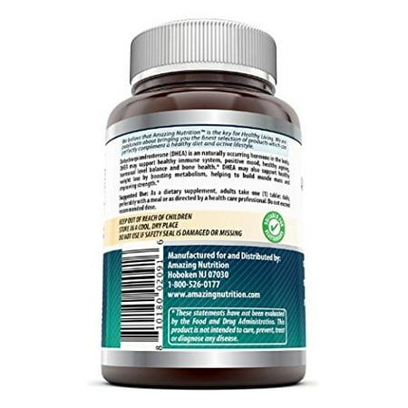Amazing Formulas supplément de DHEA 25 mg - 240 comprimés