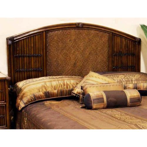 Polynesian Twin Headboard in Antique Finish (Queen)
