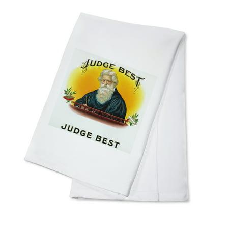 Judge Best Brand Cigar Box Label (100% Cotton Kitchen