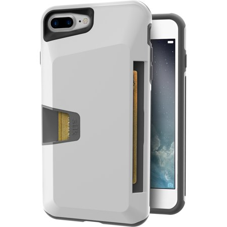 promo code 73650 b8412 Silk iPhone 7 Plus/8 Plus Rugged Wallet Case - Vault Armor Wallet for  iPhone 7+/8+ [Protective Non-Slip Grip Credit Card Cover] - Bright White