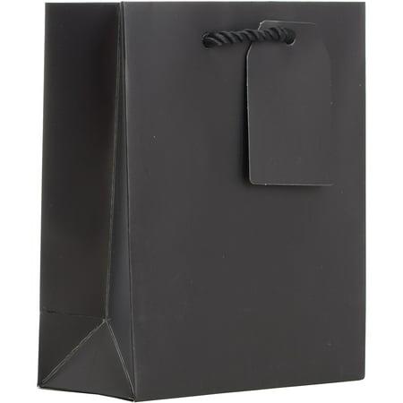 Jillson & Roberts Small Gift Bags, Solid Matte Black (60 Pcs) - Black Gift Bags