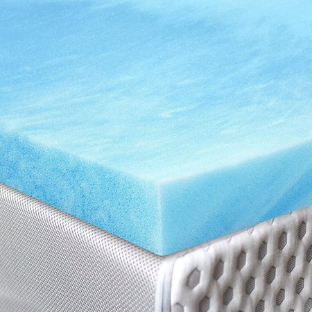 Red Nomad - King Size 3 Inch Thick, Ultra Premium Gel Infused Visco Elastic Memory Foam Mattress Pad Bed Topper - Made in The USA ()
