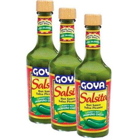 Goya Salsita Jalapeno Chiles 8 oz (Pack of 3) Hot Sauce ()