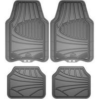 Armor All 4-Piece Rubber Interior Floor Mat (Grey)
