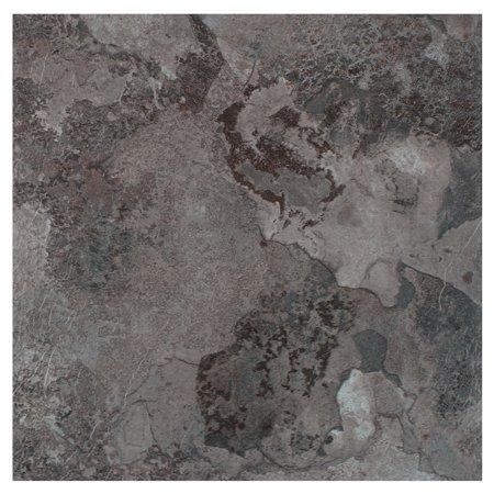 Discount Bathroom Tiles - Achim Portfolio 12x12 2.0mm Self Adhesive Vinyl Floor Tile - Midnight Marble - 9 Tiles/9 sq. ft.