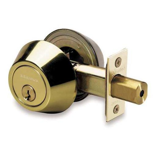 MASTER LOCK DSO0603/4D Deadbolt Less Cylinder, HD, Satin Chrome