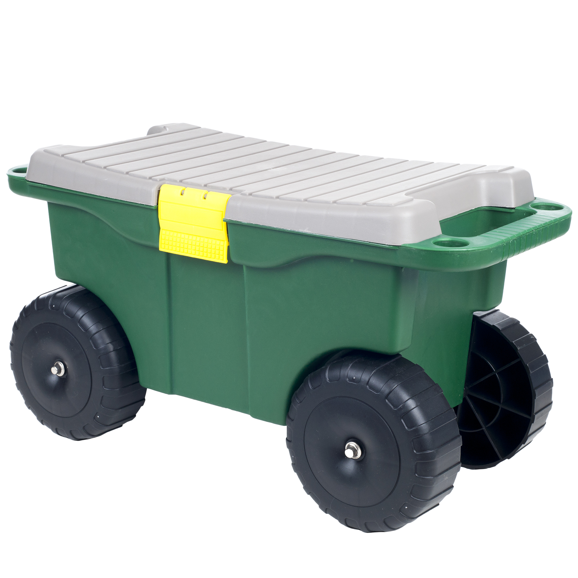 "Image of 20"" Plastic Garden Storage Cart; Scooter by Pure Garden"