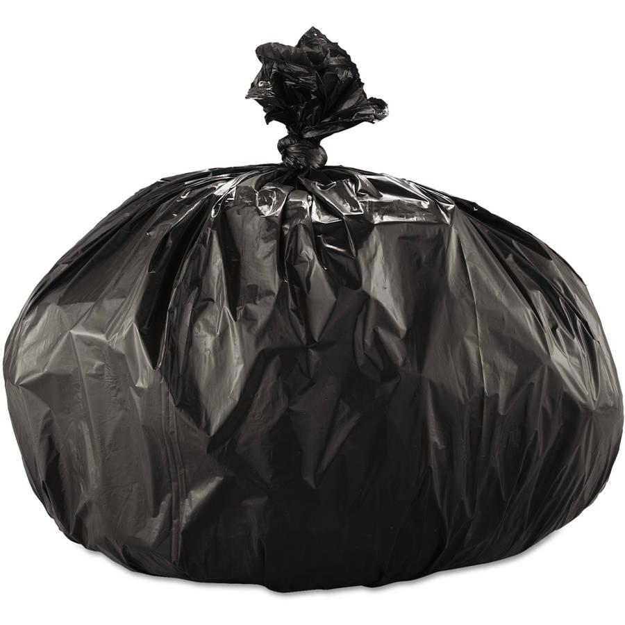 Boardwalk 56 Gallon Super Extra-Heavy Grade Trash Bags, Black, 25 count, (Pack of 4)
