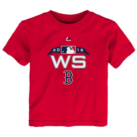 Boston Red Sox Majestic Toddler 2018 World Series Bound Authentic Collection T-Shirt - Red